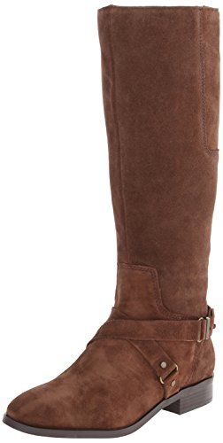Nine West Women's Blogger Suede Harness Boot,Brown,5 M US Nine West http