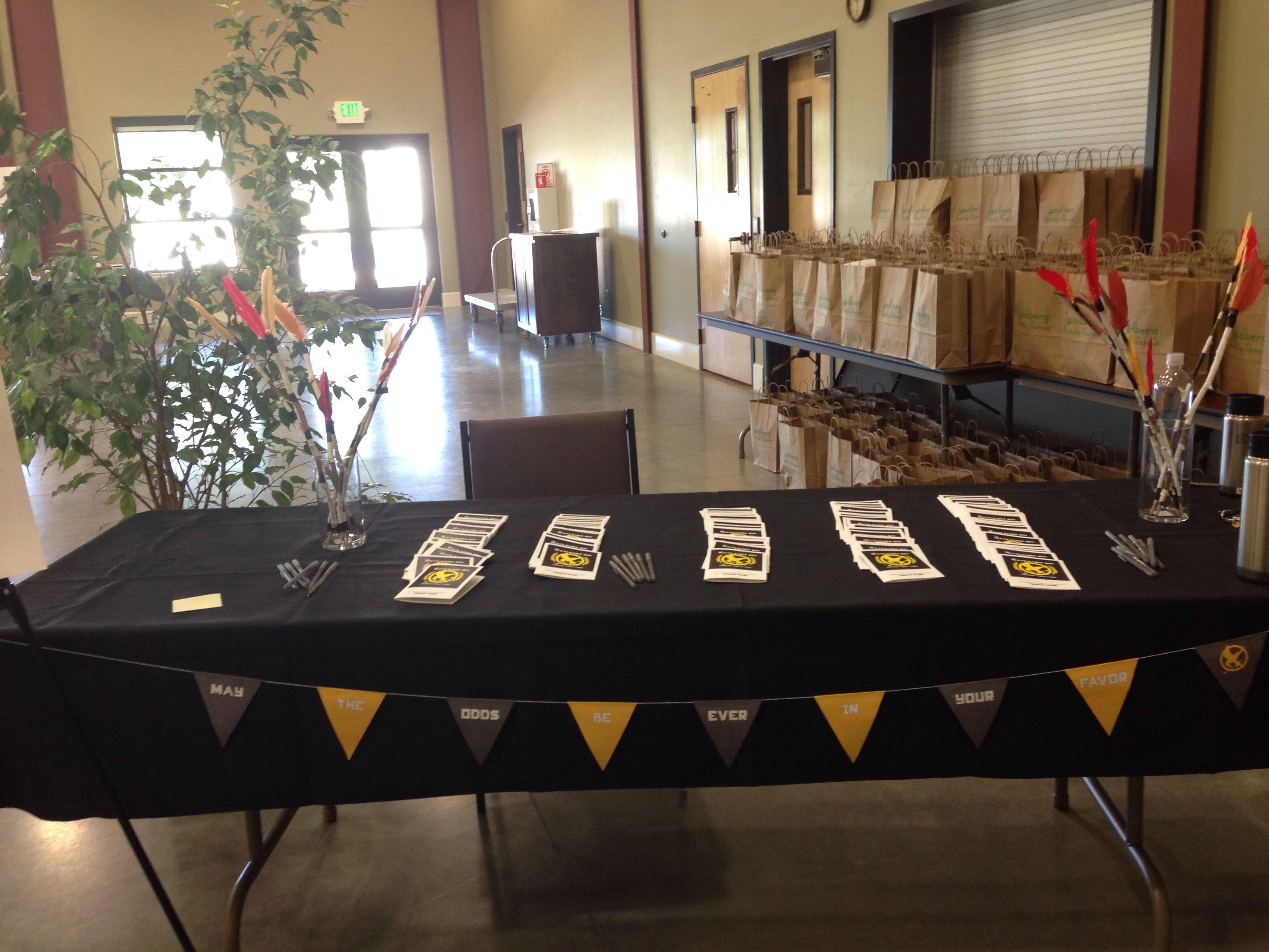 Entry table to health fair with images health fair