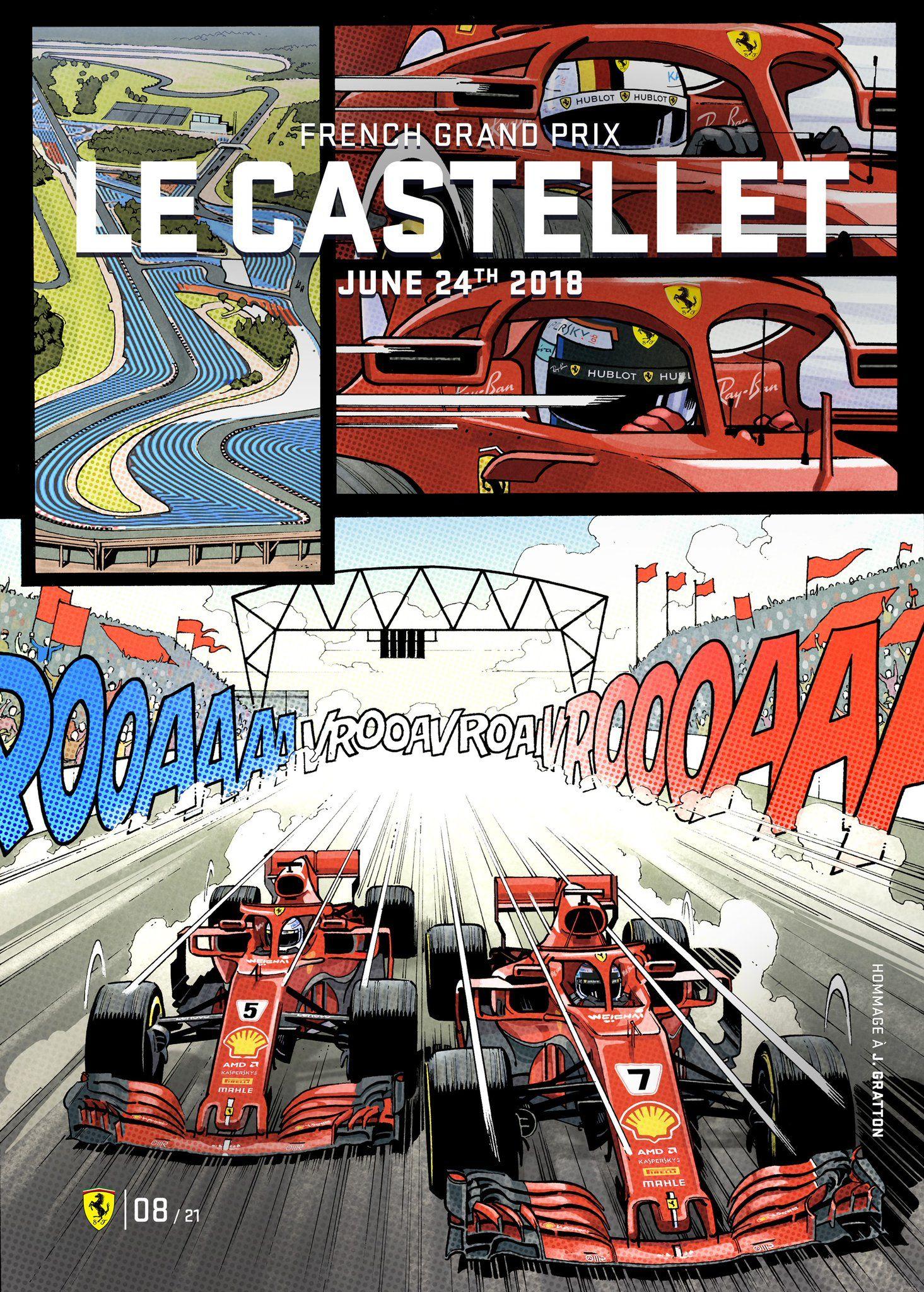 Scuderia Ferrari On Ferrari Poster French Grand Prix Grand Prix