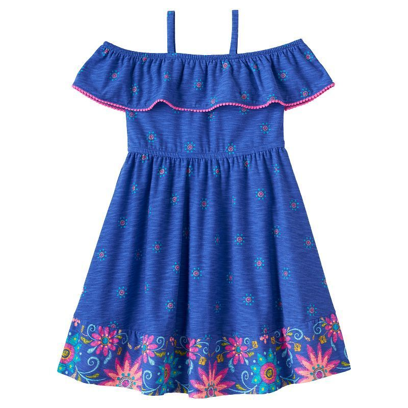f183cbf51ffc Disney s Elena of Avalor Girls 4-7 Off-The-Shoulder Ruffle Dress by Jumping  Beans®