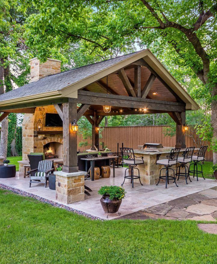Nice 35 Gorgeous Kitchen Design Ideas For Outdoor Kitchen Http Gurudecor Com 2018 11 04 35 Gorgeous Kitchen Design Ideas For Ou Backyard Patio Patio Backyard