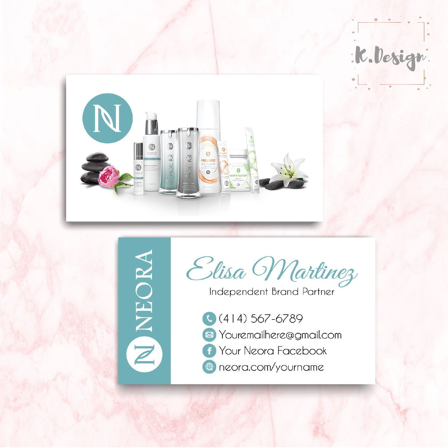 Neora Business Cards Personalized Neora Template Ne05 In 2020 Personal Cards Doterra Business Cards Cards
