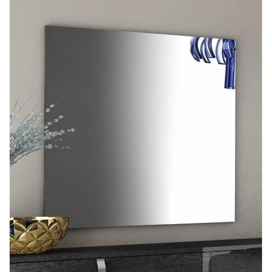 Modern Clear High Gloss Frameless Wall Mirror Benzara Wall