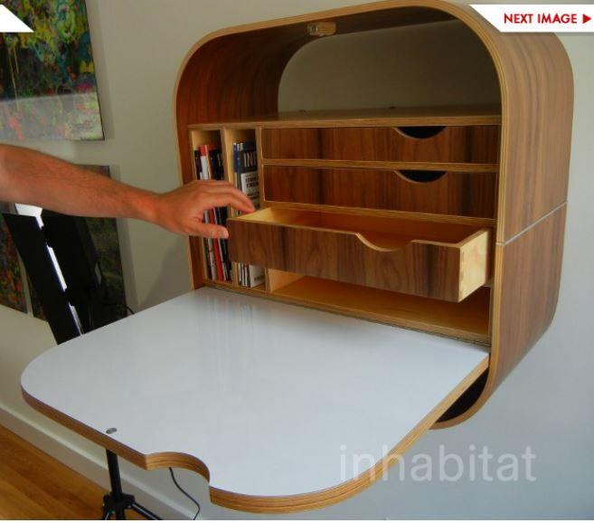 les 25 meilleures id es de la cat gorie bureau pliable sur pinterest plier la table bureau. Black Bedroom Furniture Sets. Home Design Ideas