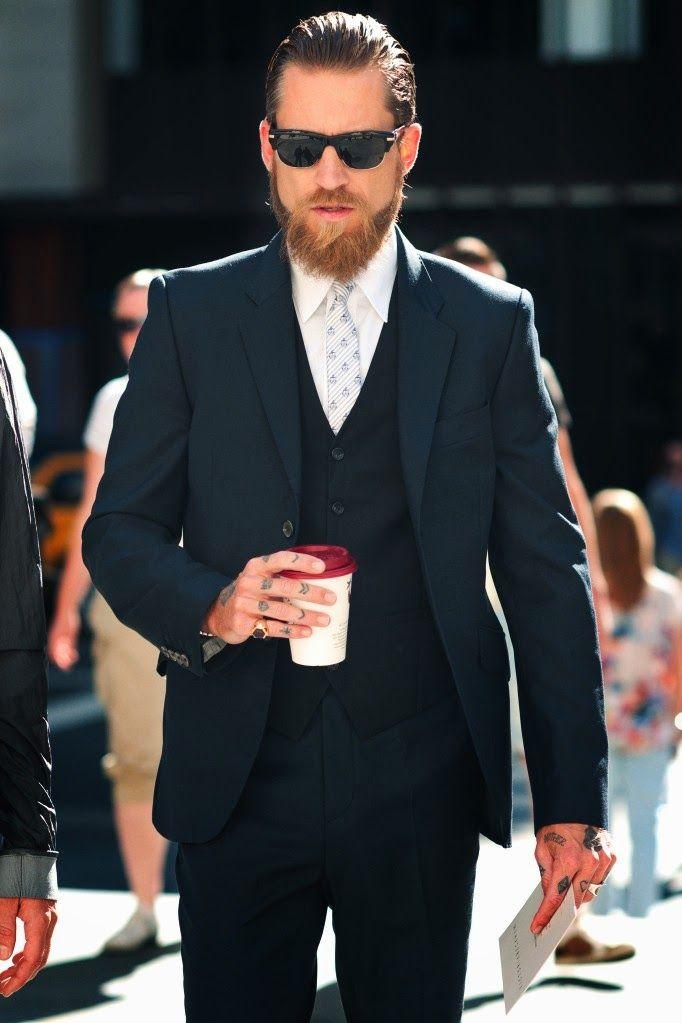 3 piece suit beard - Google Search | Kostumer