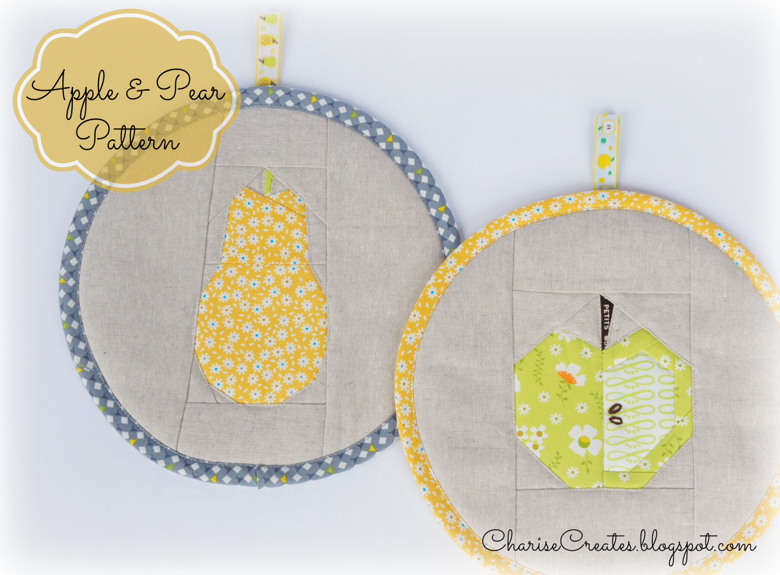 Apple and Pear ~ Free Paper Piecing Patterns! | Colchas y Costura