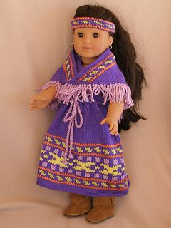 American Girl 18 doll Southwestern Girl pattern by Ase Bence #indianbeddoll