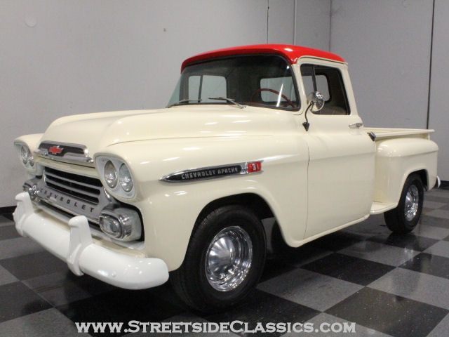 1959 Chevrolet Apache Truck Brought To You By House Of Insurance Eugene Oregon Call For Lowcost C Classic Trucks Classic Pickup Trucks Chevrolet Apache