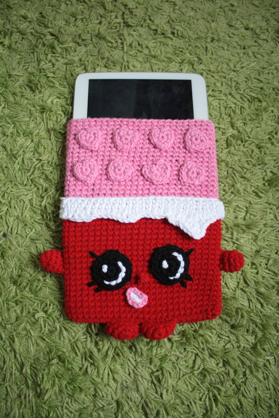 Cheeky Chocolate Tablet cover - Shopkins Crochet Pattern, tablet ...