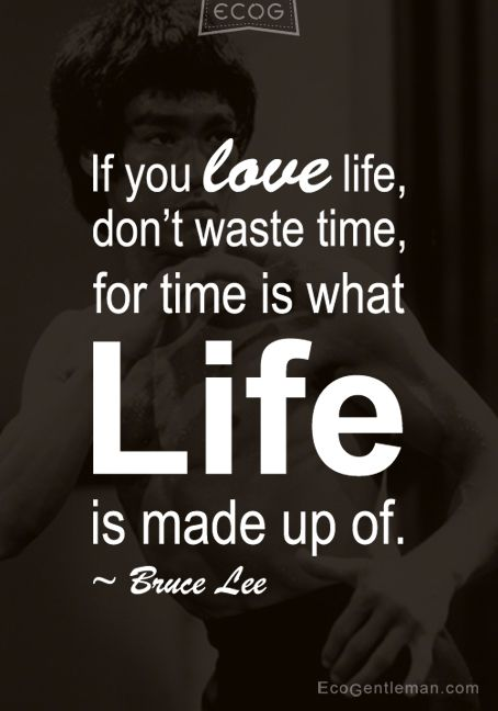 Quotes About Time And Life If You Love Life Waste Time For Time Is