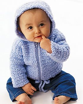 Baby Crochet Hooded Cardigan