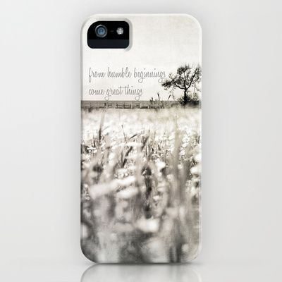 from humble beginnings come great things iPhone & iPod Case by ingz - $35.00