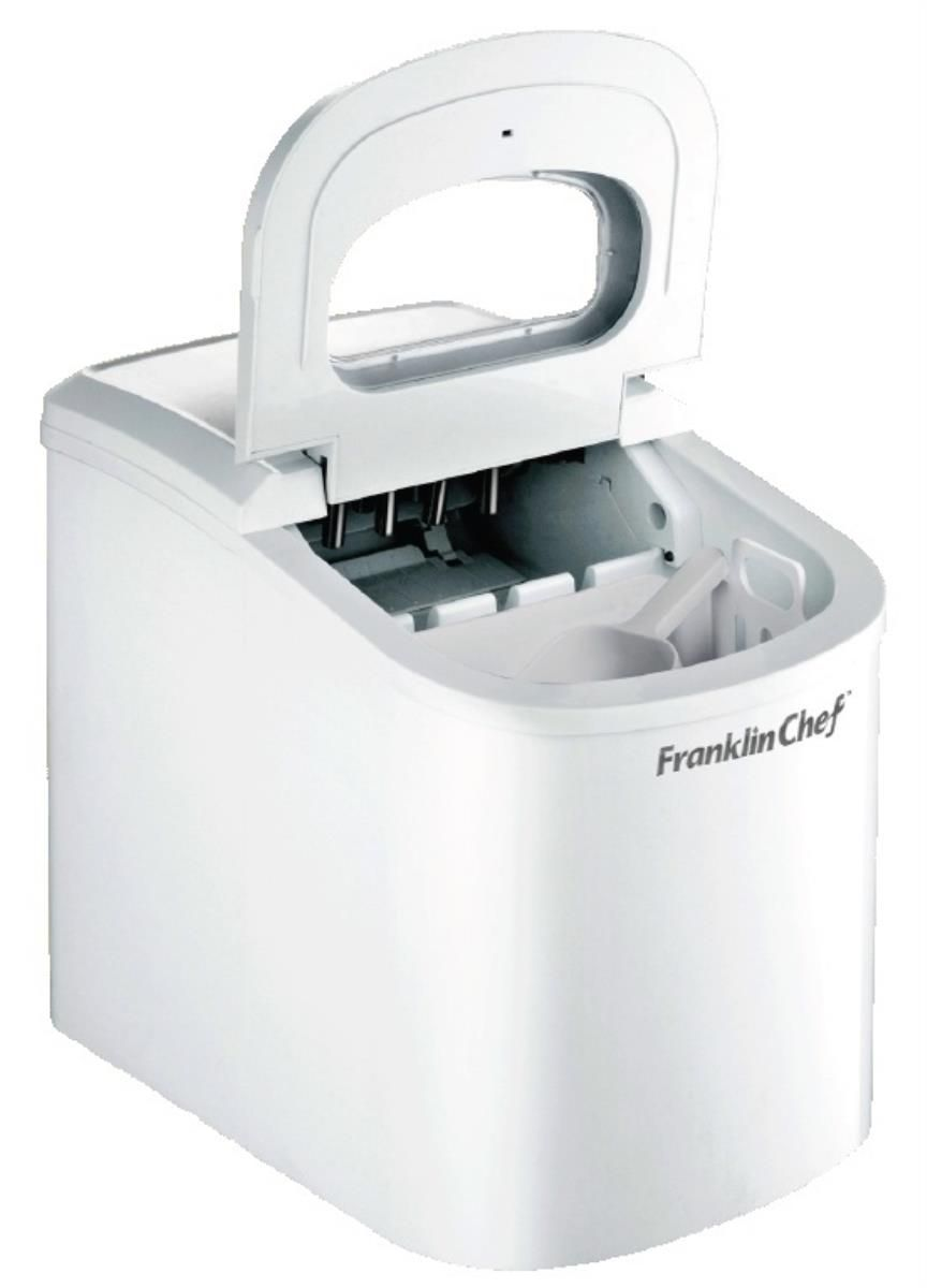 Franklin Chef Fci120w White Portable Countertop Bullet Shaped Ice