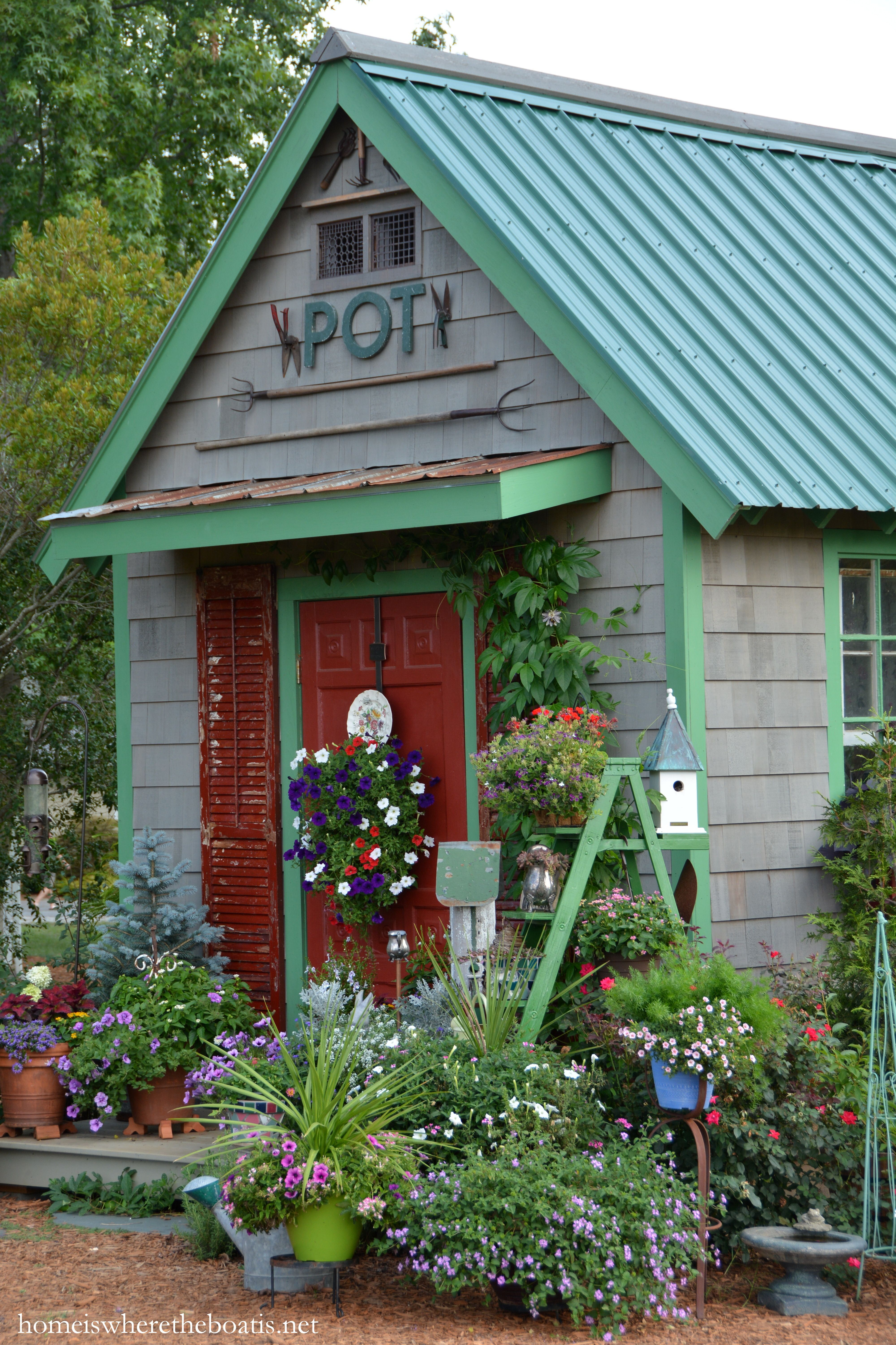 Exceptional Potting Shed: After, With Vintage Garden Tools | Homeiswheretheboatis.net