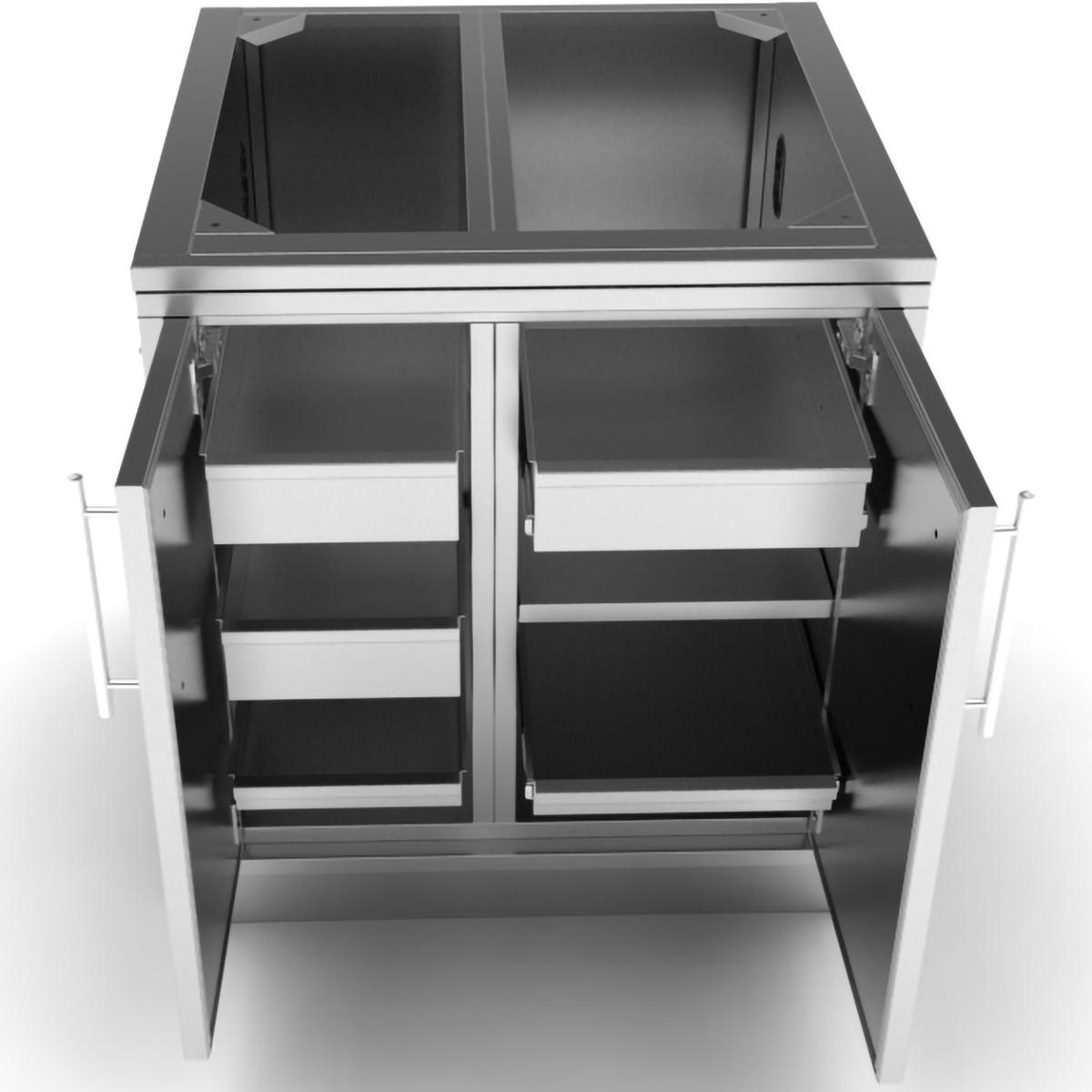 Sunstone 30 Outdoor Kitchen Weather Sealed Dry Storage Island Cabinet Sbc30dspc In 2019 Outdoor Kitchen Kits Storage Hinges For Cabinets