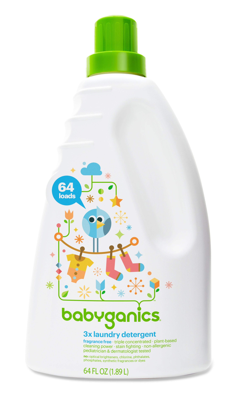 Amazon Com Babyganics 3x Baby Laundry Detergent Fragrance Free 64oz Bottle Health Personal C Baby Laundry Detergent Baby Detergent Best Laundry Detergent