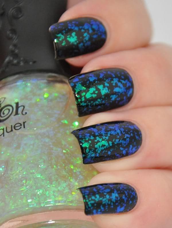 Nfu Oh 40 over black | Rocker Nails | Pinterest | Uñas hermosas ...