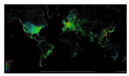 SelfReplicating USBs Spread Software Faster Than An Internet - World internet usage map