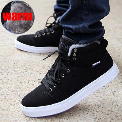 New Fashion Brand Winter Shoes Warm Men Shoes Sneakers with Fur ...