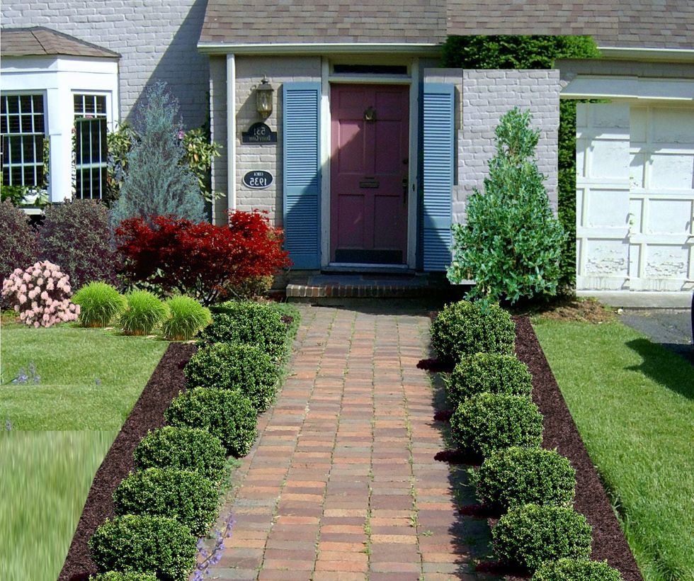 Marvelous Front Garden Design Ideas Part - 12: Design. Landscape Ideas For Front Yard The Landscape D Home Design