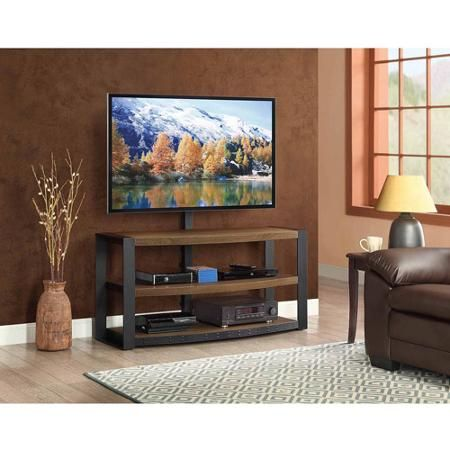 Santa Fe 3 In 1 Brown Tv Stand For Tvs Up To 65 Walmart Com