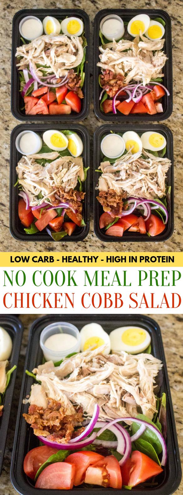 No Cook Meal Prep Chicken Cobb Salad No Cook Meal Prep Chicken Cobb Salad