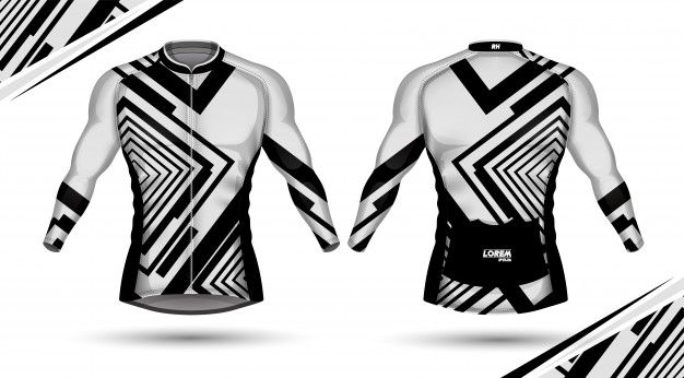 Cycling jersey, front and back Premium V... | Premium Vector #Freepik #vector #fashion #fitness #foo...