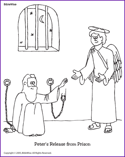 The Church Prayed For Peter Coloring Page