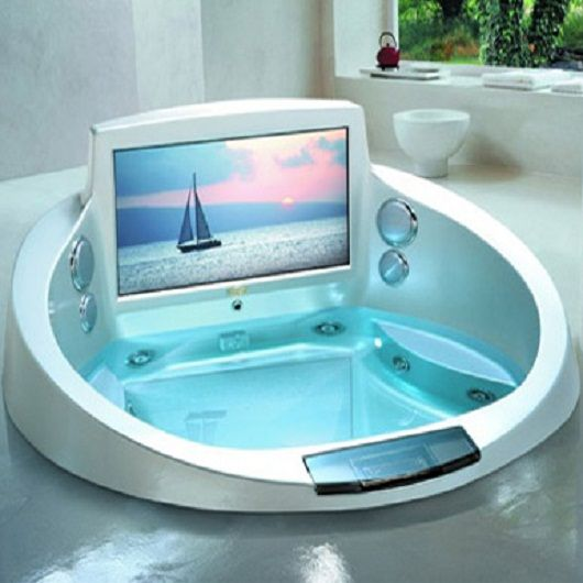 Modern Jacuzzi Tub For Bathroom With Built In TV
