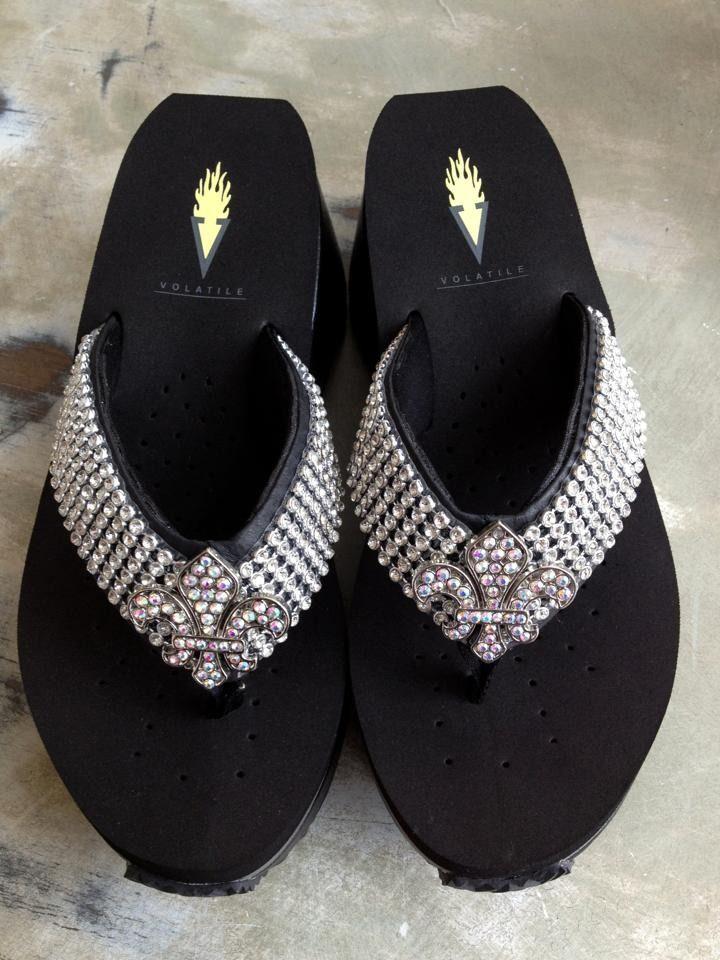 Rhinestone sandals, Bling flip flops
