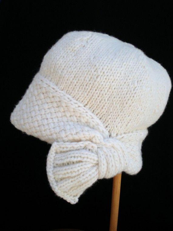 PDF Instant Download Knitting Hat Pattern - Flapper Cloche Hat ...