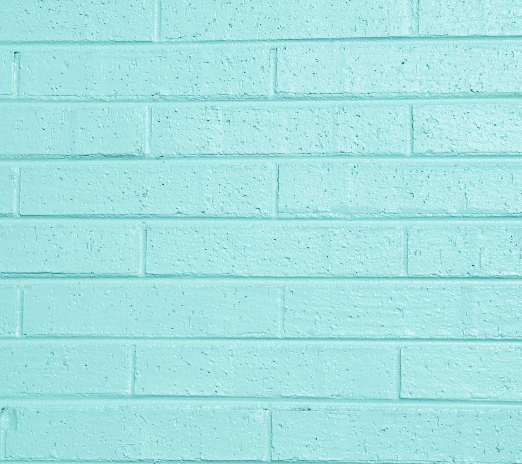 Turquoise Brick Wallpaper Color Aqua Personality Background Wallpaper Image Aqua