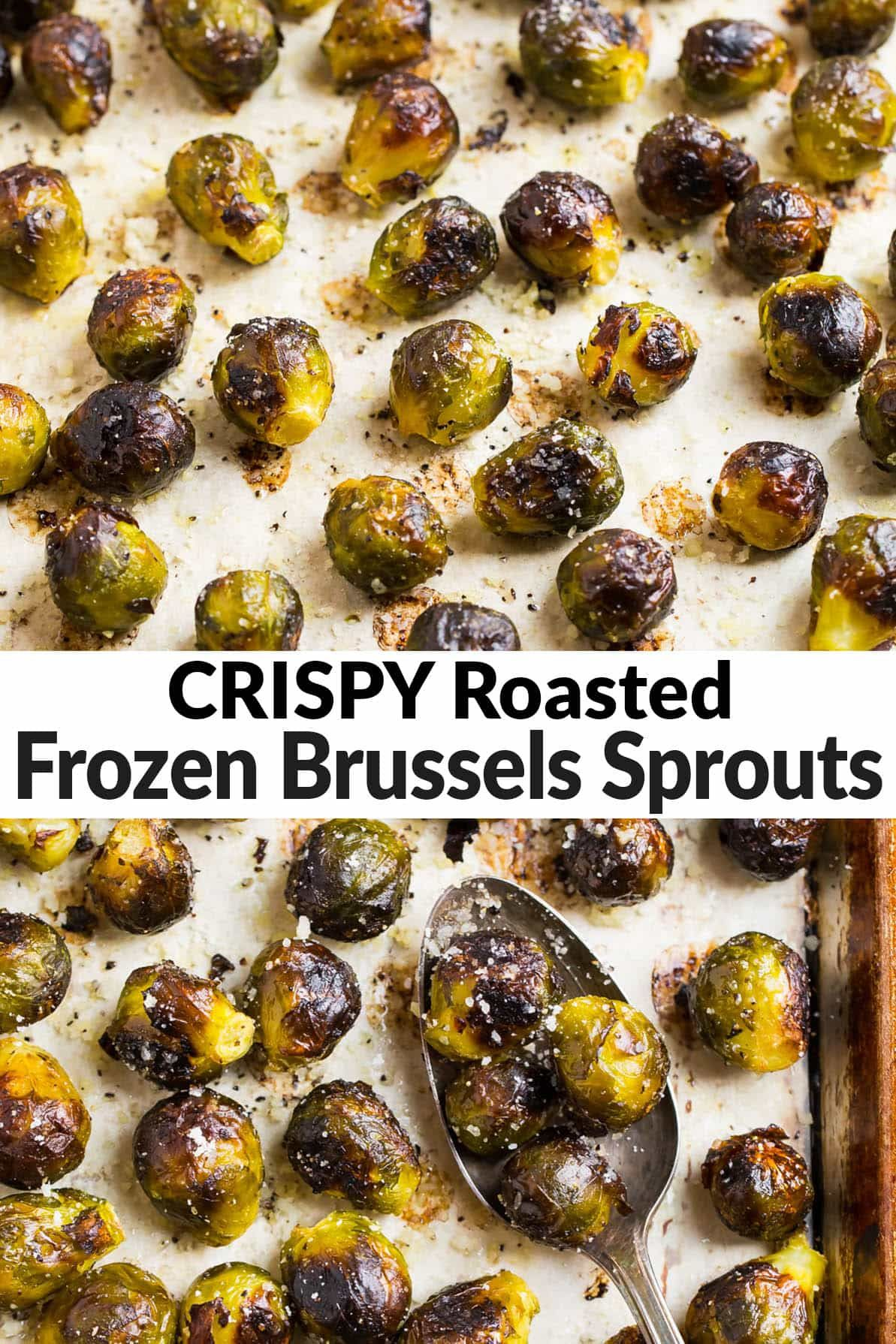 How to make easy roasted frozen brussels sprouts that are