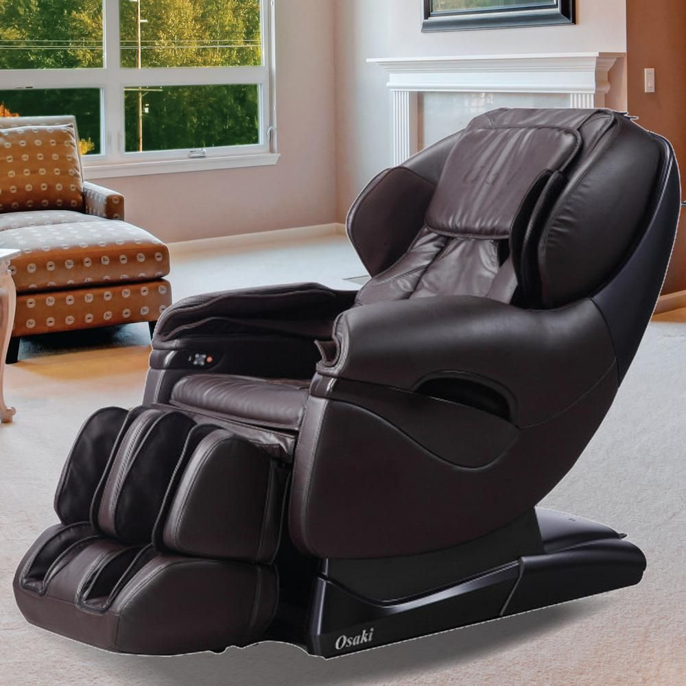 Pro Series Leather Massage Chair With L Track Massage Function