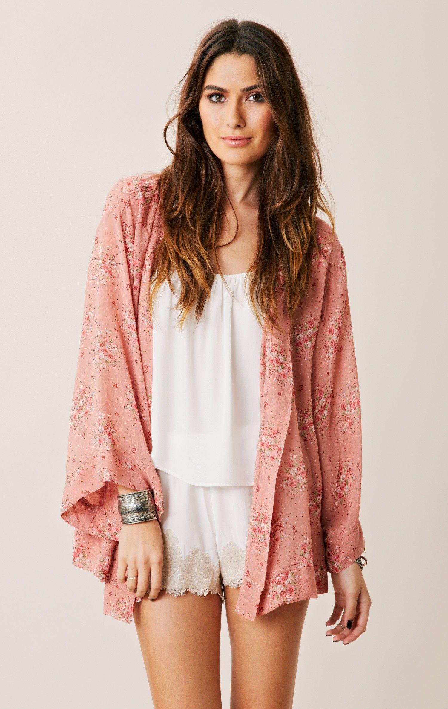 Blu Moon Kimono Jacket | Bohemian fashion | Pinterest | Kimono ...