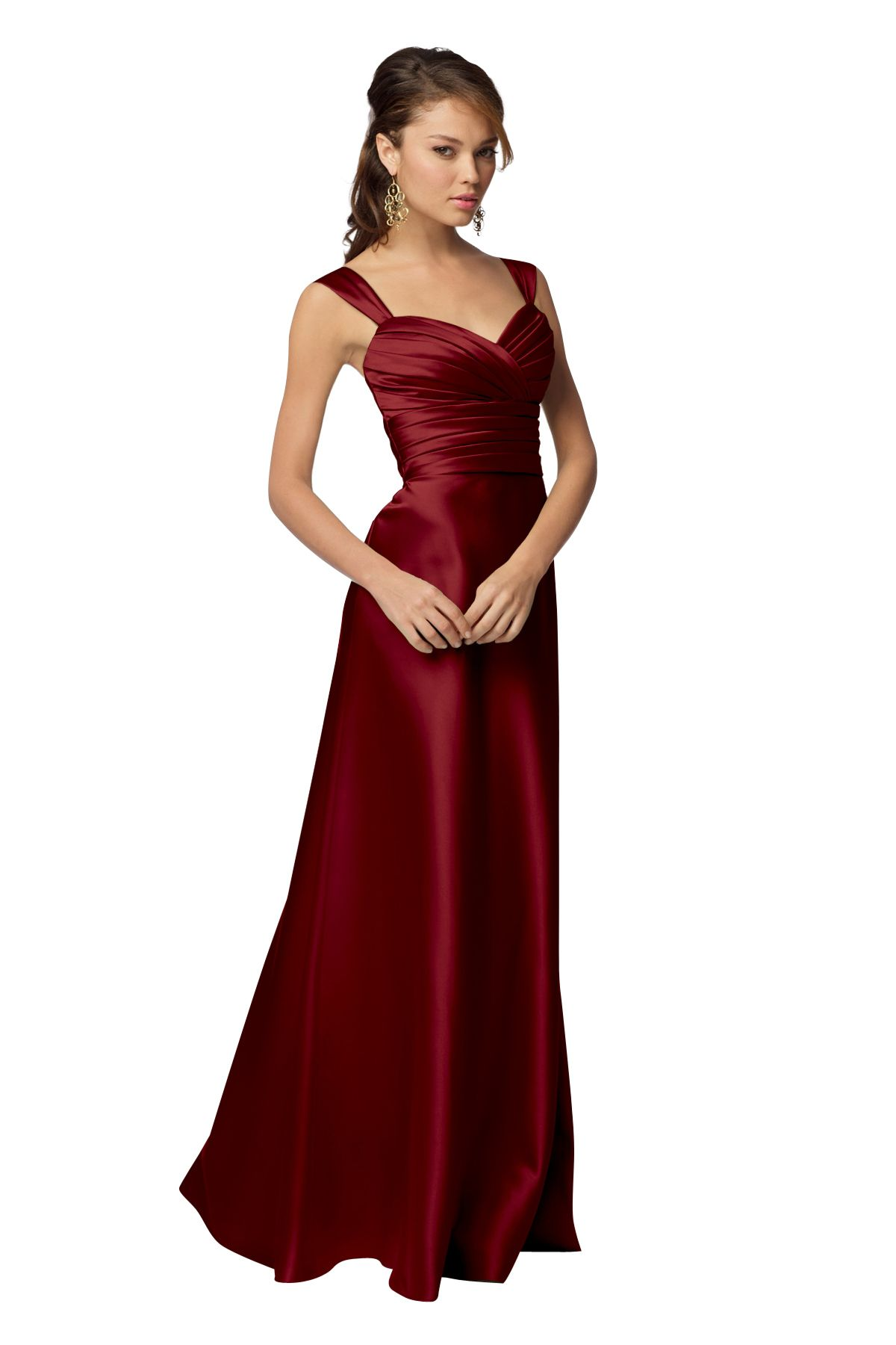Dark Wine Red Or Cherry Wtoo 961 Bridesmaid Dress Weddington Way