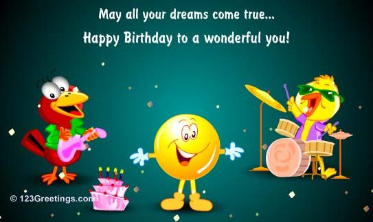 Happy Birthday To A Wonderful You Free For Kids ECards Greeting