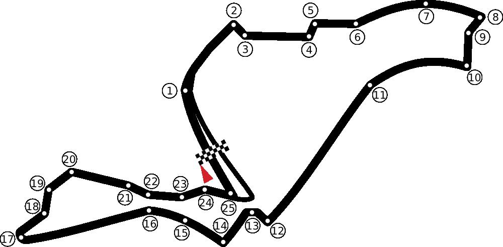 List Of Formula One Circuits Wikipedia The Free Encyclopedia Circuit Slot Racing Formula 1