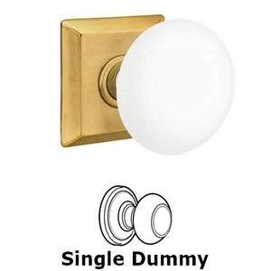 Emtek Hardware   Porcelain Door Knobs   Single Dummy Ice White Knob With  Quincy Rosette