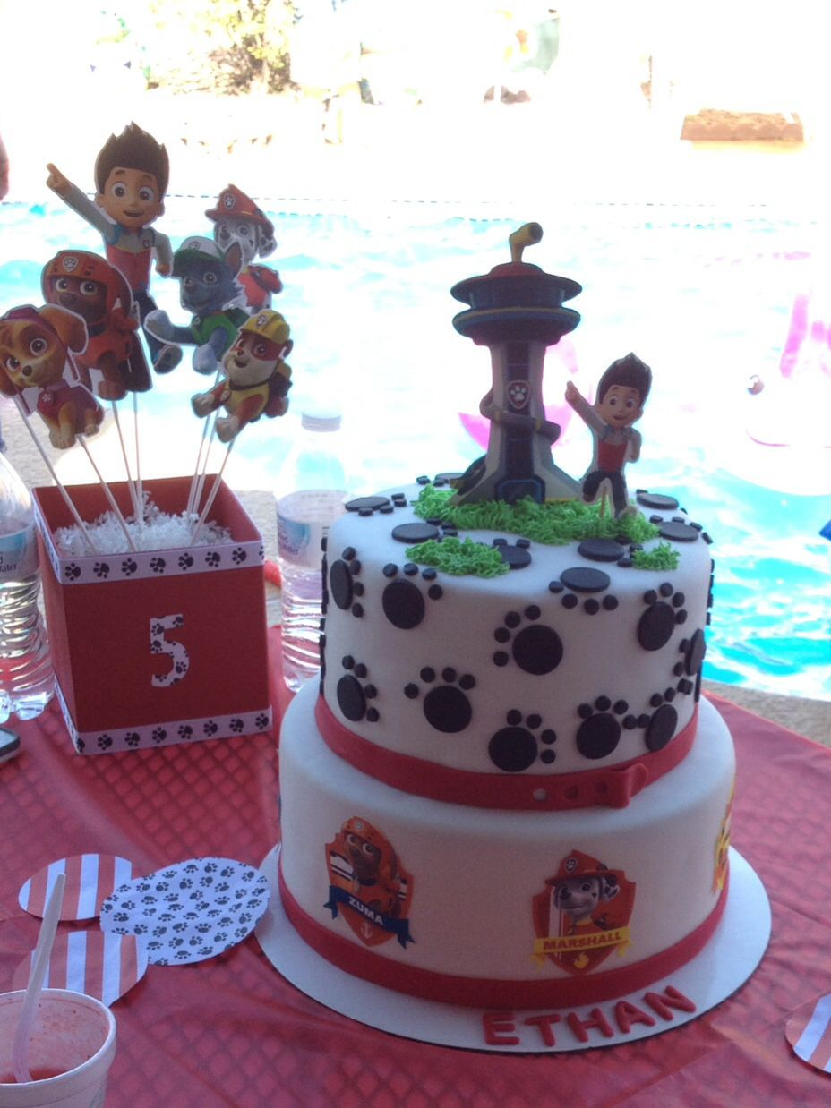 Paw Patrol Inspired Birthday Cake Edible Images Are Used For The