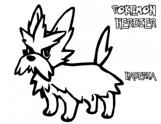 Pokemon Herdier Coloring Pages