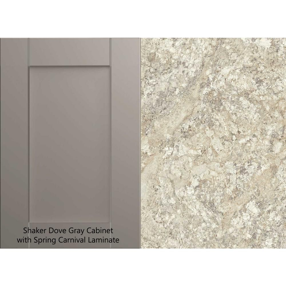 Hampton Bay 4 Ft Laminate Countertop Kit In Spring Carnival Granite With Valencia Edge 12337kt04n1876 The Home Depot In 2020 Laminate Countertops Countertop Kit Hampton Bay