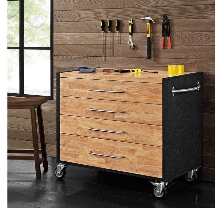 Storage Cabinet Mobile Tool 4 Drawers Diy Tools Furniture Home