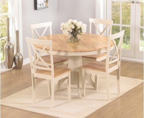 Round shabby chic dining table Farmhouse style Decoración Bella