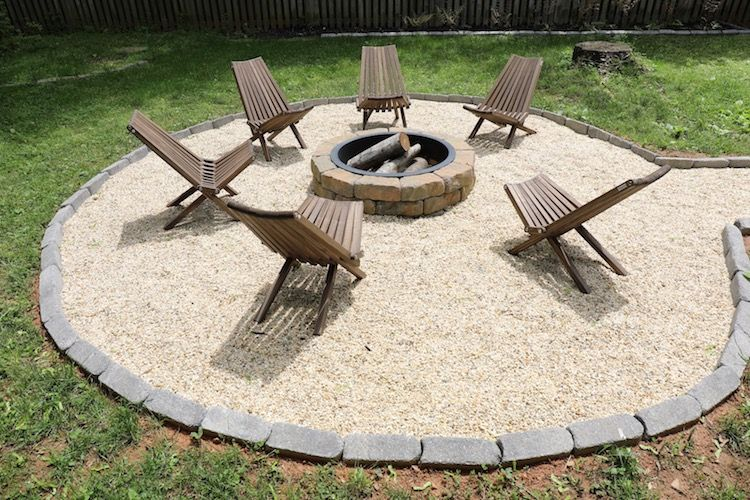 How To Build A Diy Fire Pit With A Seating Area The Home Depot Blog Fire Pit Seating Area Outdoor Fire Pit Area Outside Fire Pits