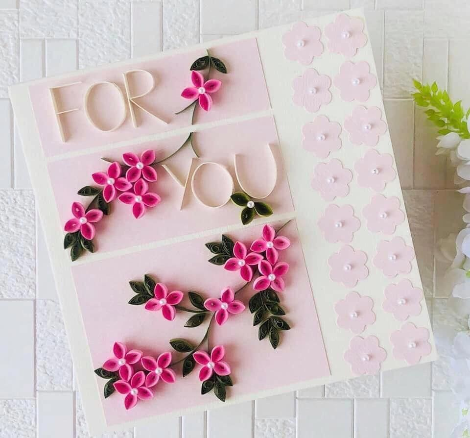 Handmade Quilling Card For For Her,Quilling Valentines Card For Her,Valentines Greeting Card,Quilling Card For Best Friend,Proposal Card