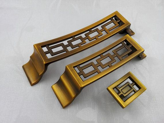 Chinese style antique symmetry pulls knobs/Drawer Handles/Antique ...