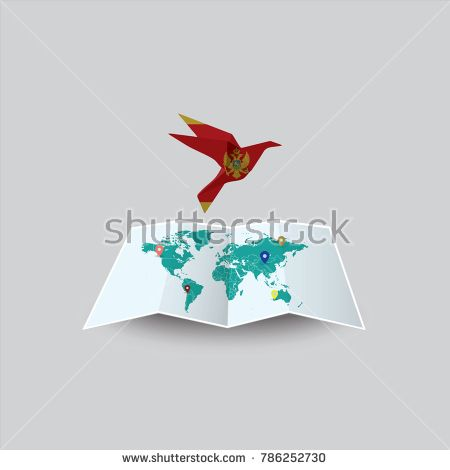 Bird of peace in the world in montenegro flag image of a vector bird of peace in the world in montenegro flag image of a vector world map gumiabroncs Gallery