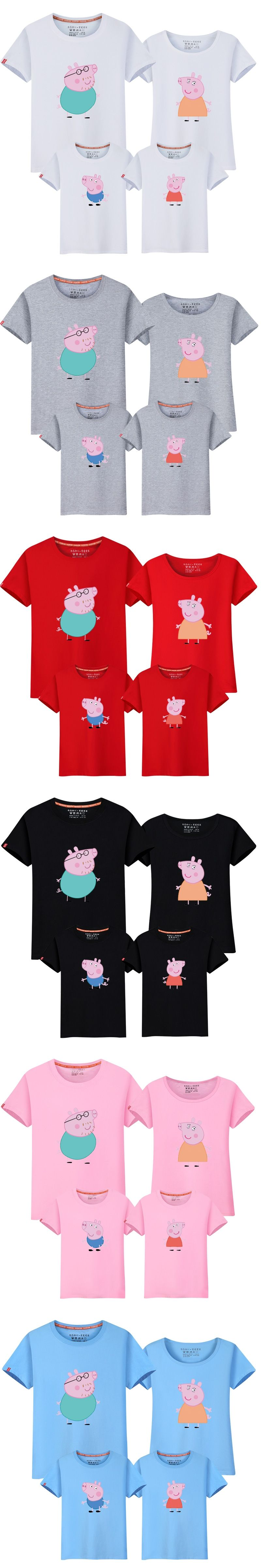 Casual Family Set O-neck Cartoon T shirt Cotton Family Clothing ...