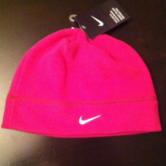 2fd7e14f5f8 Nike Arctic Fleece Beanie Authentic Nike Arctic Fleece Beanie. Very Bright  Pink Color. Nike White Embroidered Swoosh Logo on the Front.
